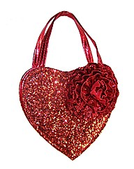 Sparkle Club Red Glitter Heart Bag