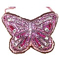 Sparkle Club Pink Butterfly Satin Bag