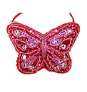 Sparkle Club Red Butterfly Satin Bag