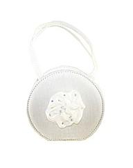 Sparkle Club White Satin Girls Bag
