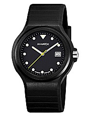 M-Watch Maxi Black Mens Strap Watch