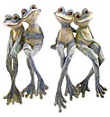 Cute Frog Couple Shelf Sitting Ornament