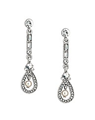 Jon Richard Ava Crystal Baguette Earring
