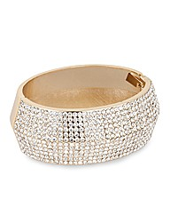 Mood Crystal Set Wide Gold Bangle