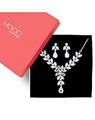 Mood Crystal Floral Jewellery Set
