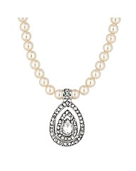 Jon Richard Pearl Teardrop Necklace