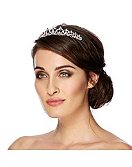 Jon Richard Mini Crystal Heart Tiara