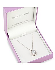 Jon Richard Cubic Zirconia Drop Necklace