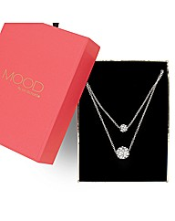 Mood Crystal Double Ball Drop Necklace