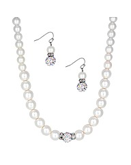 Mood Crystal Ball Pearl Jewellery Set