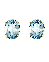 9ct Blue Topaz Earring