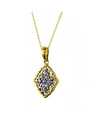 9ct Tanzanite and Diamond Pendant