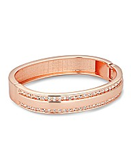 Jon Richard Rose Gold Panelled Bangle