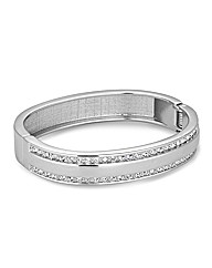 Jon Richard Silver Panelled Bangle