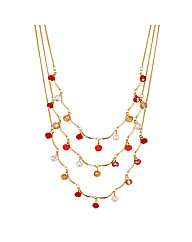Mood Multi Bead Triple Row Necklace