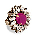 Mood Pink Stone Surround Adjustable ring