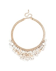 Mood Cream Shell Cascade Necklace