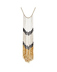 Mood Bugle Bead Long Tassel Necklace