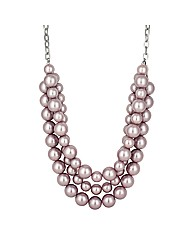 Mood Purple Pearl Multirow Necklace