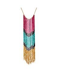 Mood Bugle Bead Long Tassel Necklace