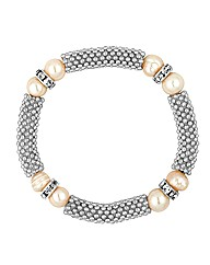 Jon Richard Pearl And Mesh Bracelet