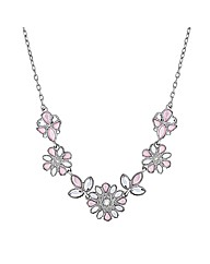 Mood Pink Jewelled Flower Stone Necklace