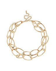Mood Multirow Gold Link Chain Necklace
