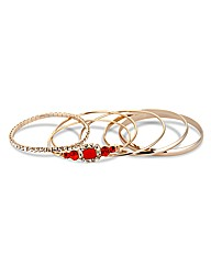 Mood Jewelled And Diamante Bangle Pack