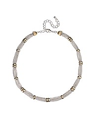 Jon Richard Silver Multi Strand Necklace