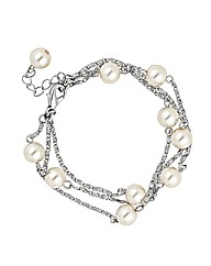 Jon Richard Multi Cream Pearl Bracelet