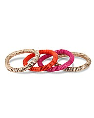 Mood Multi Mesh Stretch Bracelet Pack