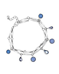 Mood Mixed Blue Stone Droplet Bracelet