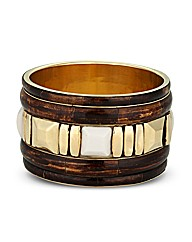 Mood Stone Encased Wood Effect Bangle