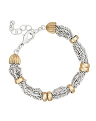 Jon Richard Silver Multi Chain Bracelet