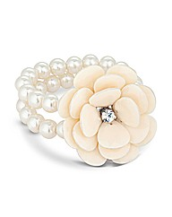 Mood Flower Pearl Stretch Bracelet