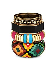 Mood Patterned Bangle Multi Pack