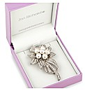 Jon Richard Pearl Flower Corsage Brooch