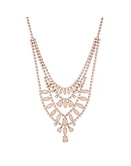Mood Pink Stone Multirow Drop Necklace