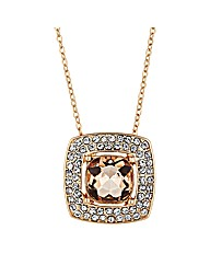 Jon Richard Peach Square Drop Necklace