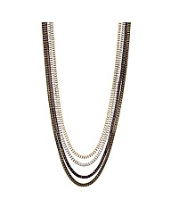 Mood Mixed Metal Multi Row Necklace