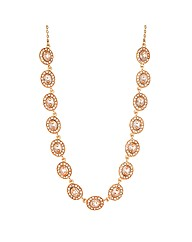 Jon Richard Oval Peach Stone Necklace