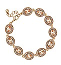 Jon Richard Oval Peach Stone Bracelet