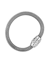 Jon Richard Crystal Barrel Mesh Bracelet