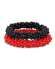 Mood Two Beaded Stretch Bracelets