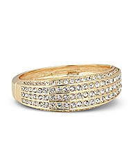 Jon Richard Crystal Stone Gold Bangle