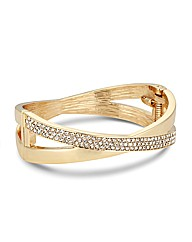 Jon Richard Gold Crossover Bangle