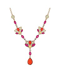 Mood Multicoloured Stone Drop Necklace