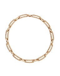 Jon Richard Oval Crystal Link Necklace