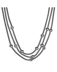 Jon Richard Triple Mesh Chain Necklace