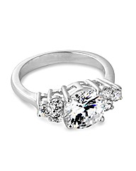 Jon Richard Cubic Zirconia Cluster Ring